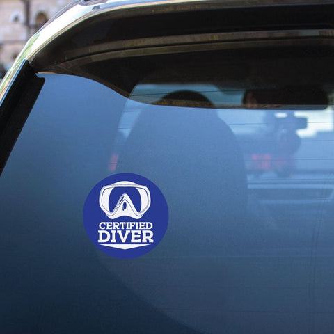 Certified Diver Sticker Decal