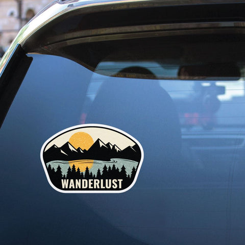 Wanderlust Explore Sticker Decal