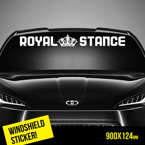 Royal Stance Windshield Top Jdm Sticker