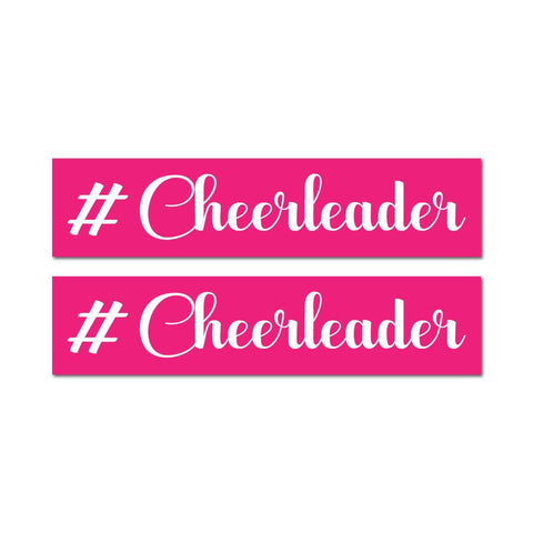 2X Cheerleader Sticker Decal