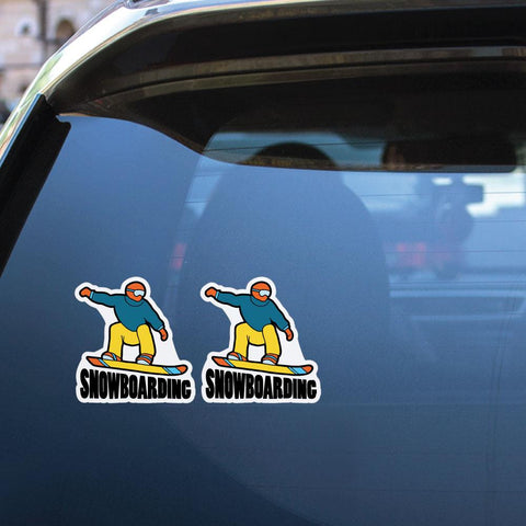 2X Skiing Sticker Decal