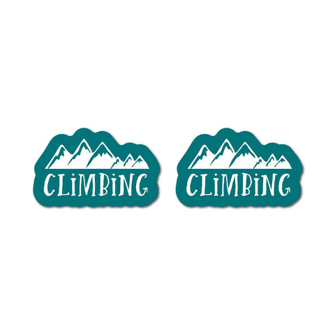 2X Mountain Climbing Sticker Decal