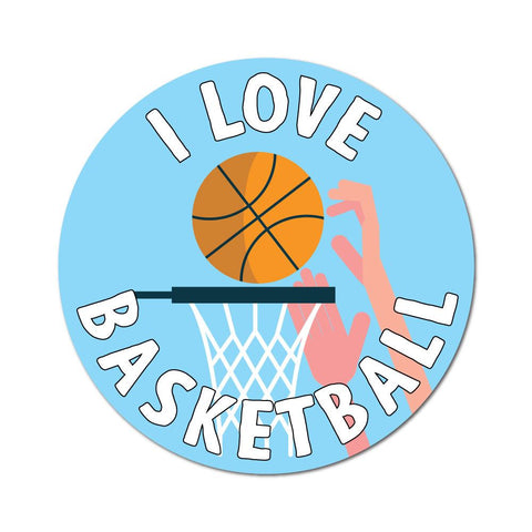 Love Basketball Sticker Decal