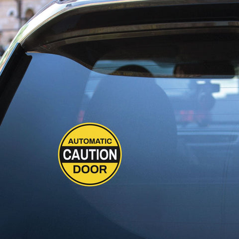 Automatic Caution Door Sticker Decal