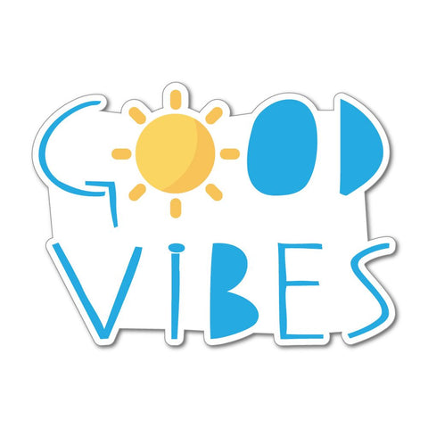 Good Vibes Sunny Calm Chill Sunshine Car Sticker Decal