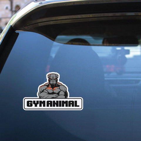 Gym Animal Sticker Decal