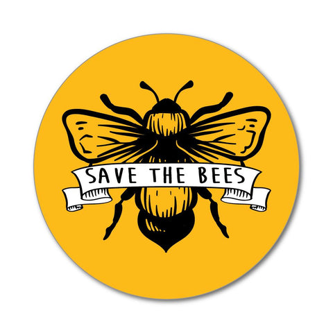 Save the bees banner enviornment yellow planet earth flower Car Sticker Decal