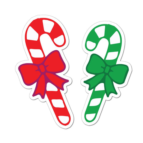 Red And Green Candy Canes Car Sticker Decal