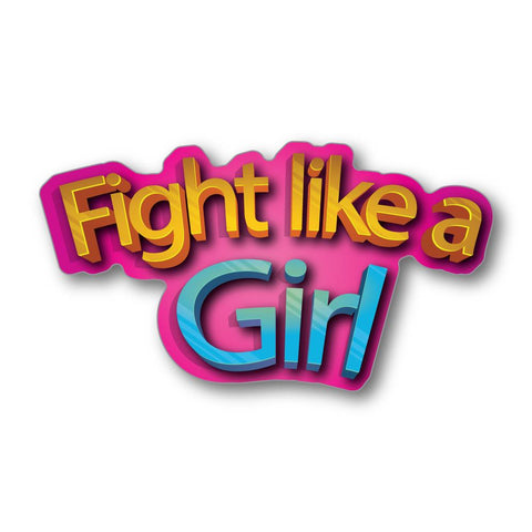 Girl Fight Feminist Sticker Decal
