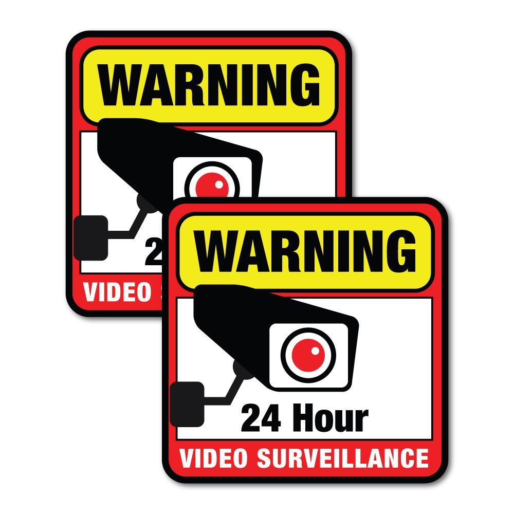 Security Camera Surveillance Cctv 24 Hours Safety Stickers