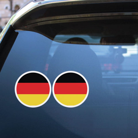 German Flag X2 Sticker Decal