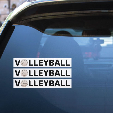 3X Volleyball Sport Sticker Decal