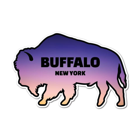 New York Usa Buffalo Sticker Decal