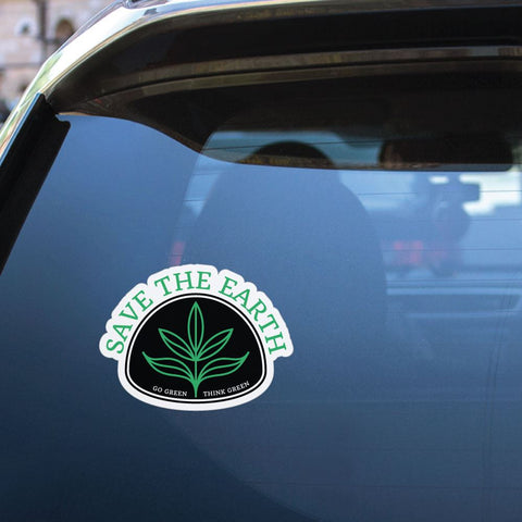 Save The Earth Go Green Think Green Sticker Decal