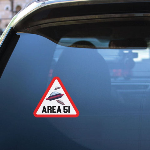 Warning Area 51 Sticker Decal