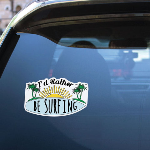 Lets Go Surfing Sticker Decal