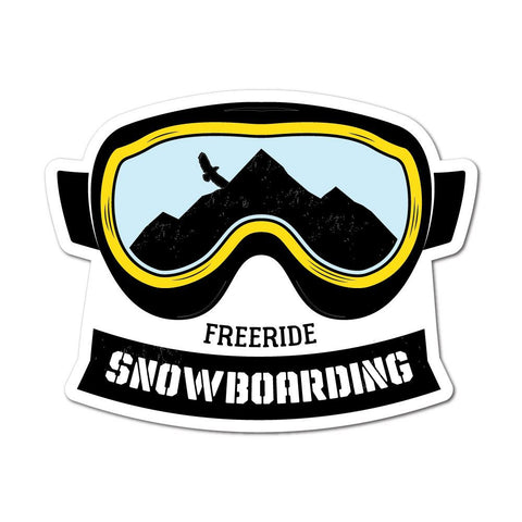 Freeride Snowboarding Sticker Decal