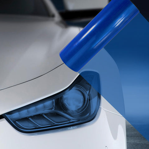 2X A4 Blue Car Headlight Fog Light Tint Film
