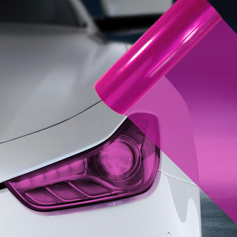 2X A4 Pink Car Headlight Fog Light Tint Film