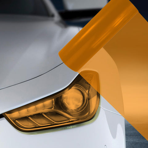 A4 Orange Car Headlight Fog Light Tint Film