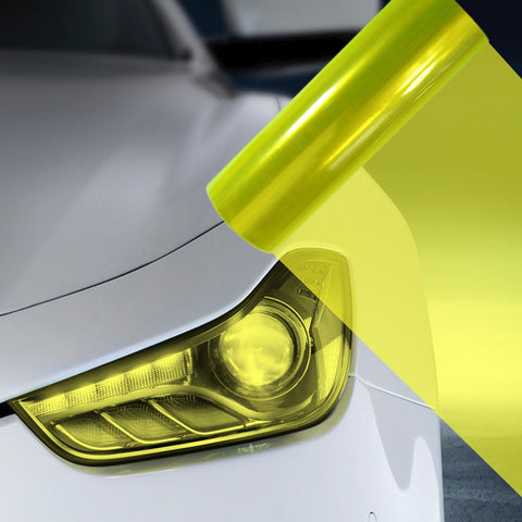 A4 Fluro Yellow Car Headlight Fog Light Tint Film