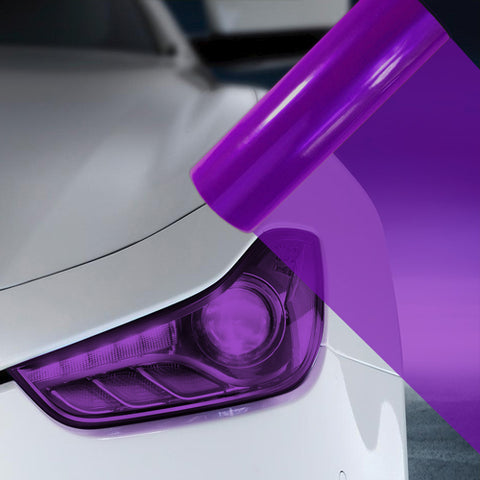 2X A4 Purple Car Headlight Fog Light Tint Film