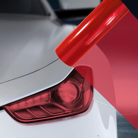A4 Red Car Headlight Fog Light Tint Film