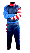 2020 Edition Captain U.S.A Double Layer SFI 3.2A/5 Rated Fire suit