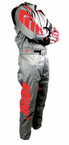 Aurora 2.0 Double Layer SFI 3.2A/5 Rated Suit Grey/Red