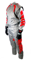 Aurora 2.0 Single Layer SFI 3.2A/1 Rated Fire Suit Gray/Red