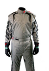 Aurora 2.0 Single Layer SFI 3.2A/1 Rated Fire Suit Gray/Black