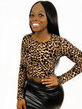 Leopard Crop Top