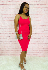 Talk To Me Nice | Hot Pink Bodycon Dress