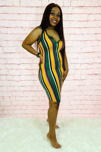 Sweet & Spicy | Multi-Color Bodycon Dress