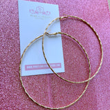 Giving Me Life | Large Gold Hoop Earrings