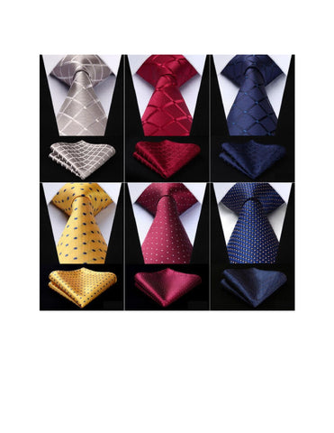NECKTIE & POCKET SQUARE SET