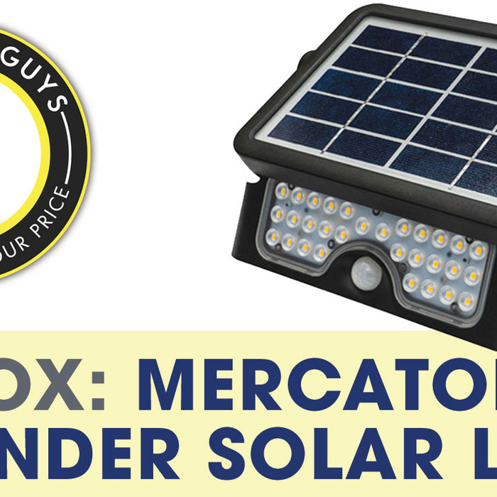 VIDEO: UNBOXING - MERCATOR DEFENDER SOLAR LED
