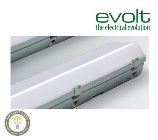 EVOLT LED Claymore Lite Emergency Batten 24W Twin 600mm IP65 Weatherproof - TheLightGuys