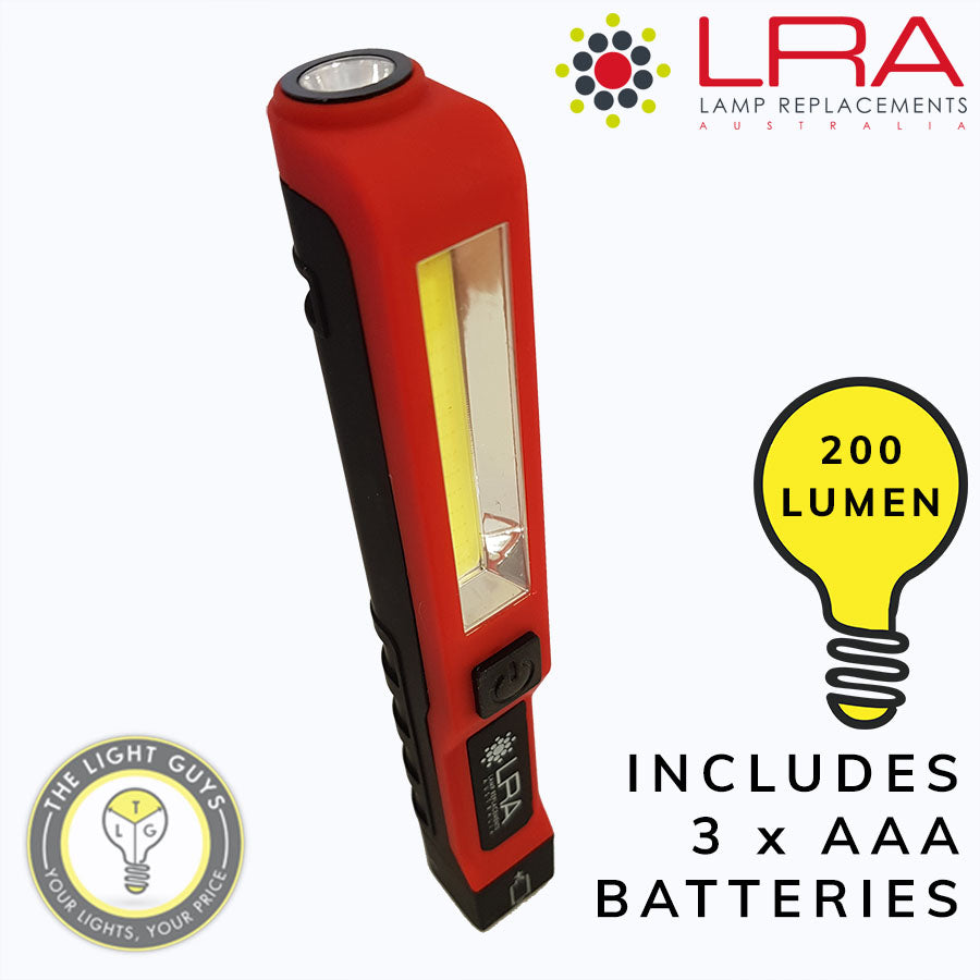 LRA LED Tough Torch (Includes 3 x AAA batteries) - TheLightGuys