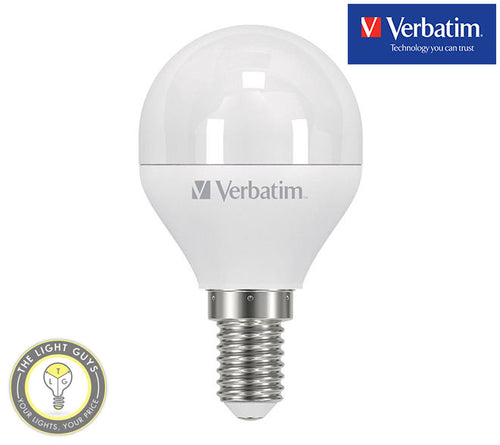 VERBATIM LED Fancy Round Frosted 6W 240V SES|SBC|ES|BC 3000K Dimmable - TheLightGuys