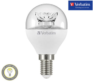 VERBATIM LED Fancy Round Clear 6W 240V SES|SBC|ES|BC 3000K Dimmable - TheLightGuys