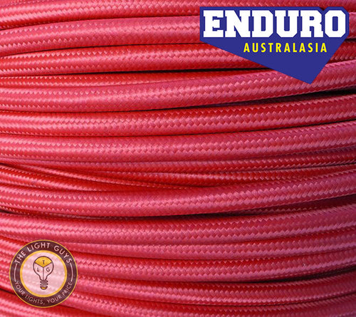 ENDURO Cable Braided 3-Core Red - TheLightGuys
