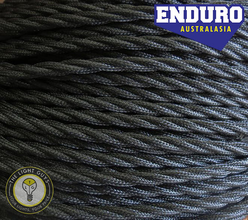 ENDURO Cable Twist 2-Core | 3-Core Black - TheLightGuys