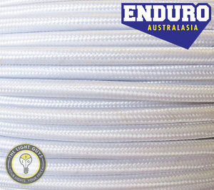 ENDURO Cable Braided 3-Core White - TheLightGuys