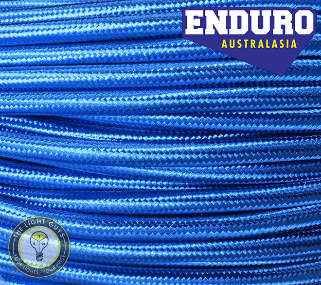 ENDURO Cable Braided 3-Core Blue - TheLightGuys