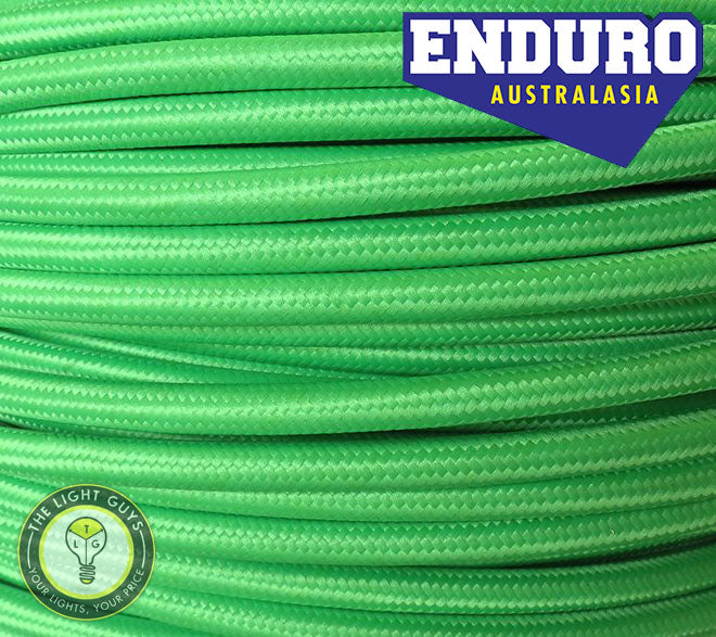 ENDURO Cable Braided 3-Core Green - TheLightGuys
