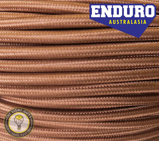 ENDURO Cable Braided 3-Core Brown - TheLightGuys