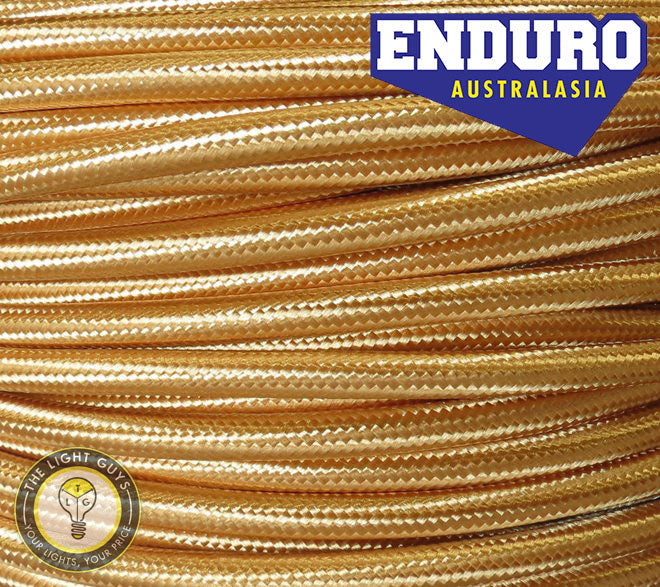 ENDURO Cable Braided 3-Core Gold - TheLightGuys
