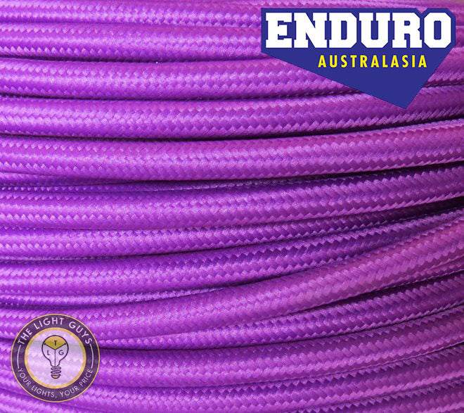 ENDURO Cable Braided 3-Core Purple - TheLightGuys