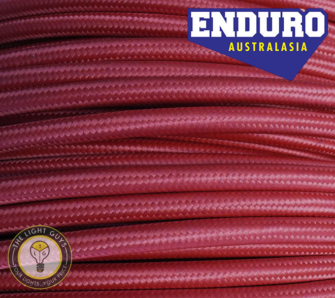 ENDURO Cable Braided 2-Core | 3-Core Burgundy - TheLightGuys